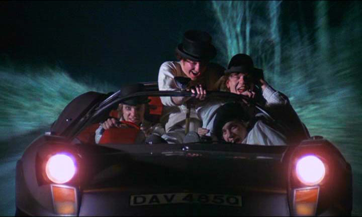 clockwork orange car scene