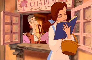 Image result for beauty and the beast belle reading