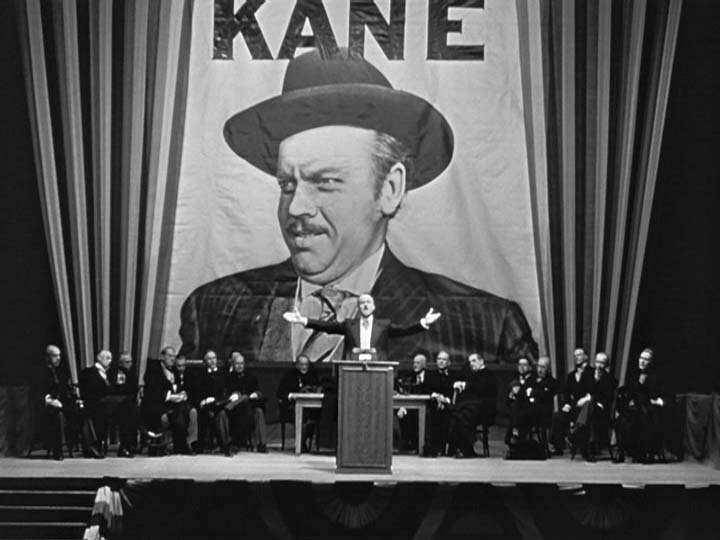 """citizen kane speech Citizen kane was welles' first film, made when he was 25 years old and under an   older,"""" says friedkin, shifting in his seat as kane gives a campaign speech."""